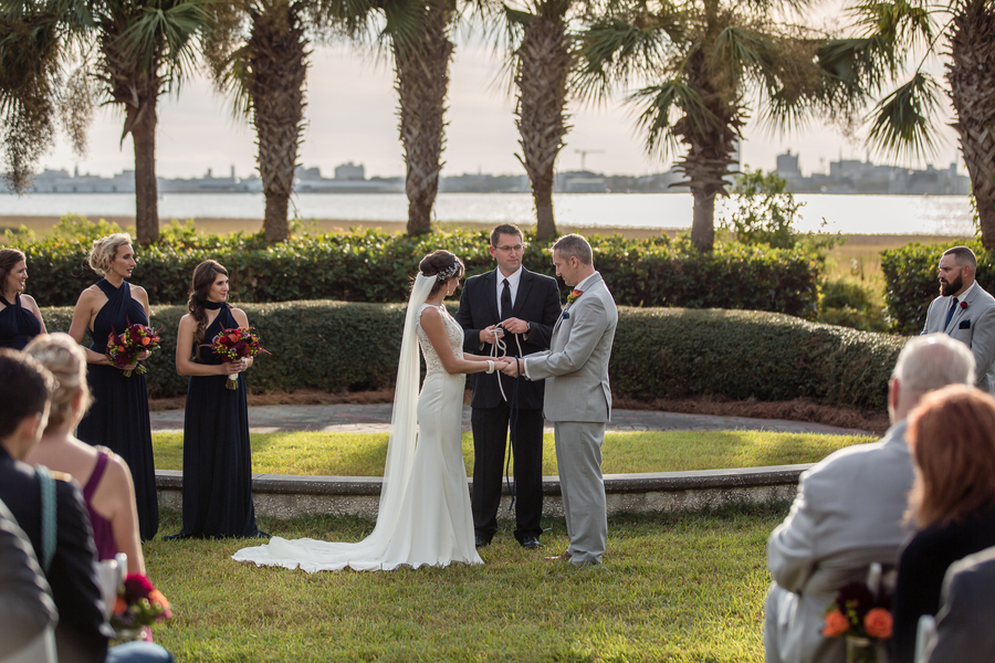 Outdoor wedding ceremony overlooking the Cooper River at Harborside East  //  A Lowcountry Wedding Magazine & Blog