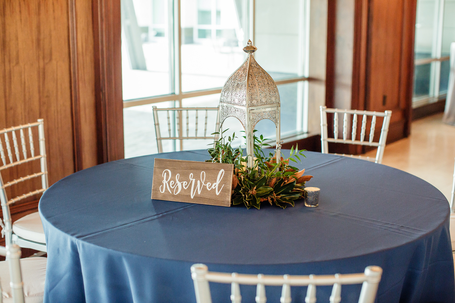 Navy wedding decor at Harborside East reception   //  A Lowcountry Wedding Magazine & Blog