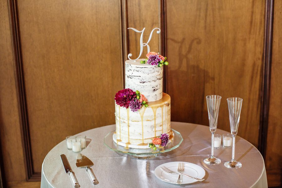 Two-tiered rustic wedding cake at Harborside East   //  A Lowcountry Wedding Magazine & Blog