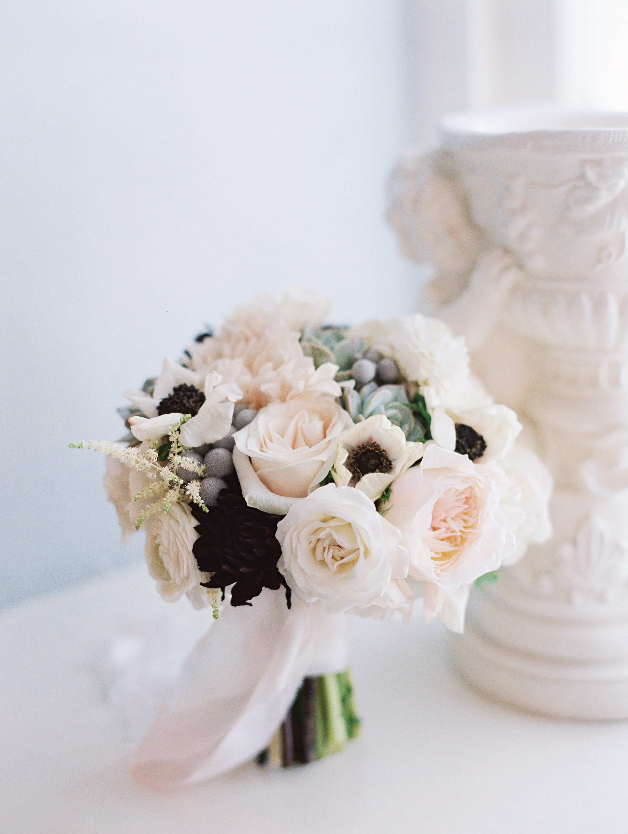 Charleston SC bouquet at Boone Hall Plantation  //  Wedding photography by Landon Jacob  //  A Lowcountry Wedding Magazine