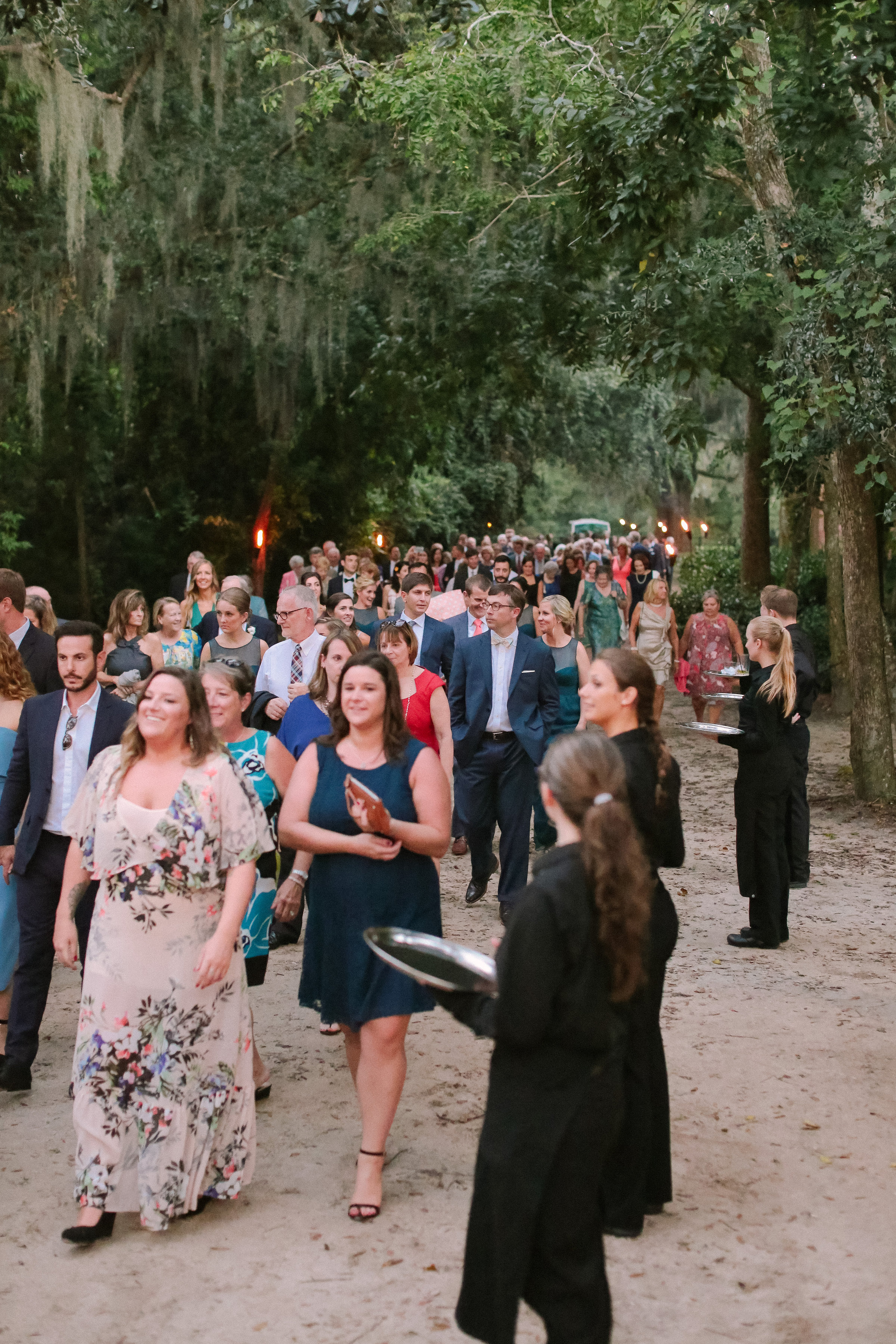 Guests arrive to wedding reception at The Cotton Dock  //  Wedding photography by Landon Jacob  //  A Lowcountry Wedding Magazine