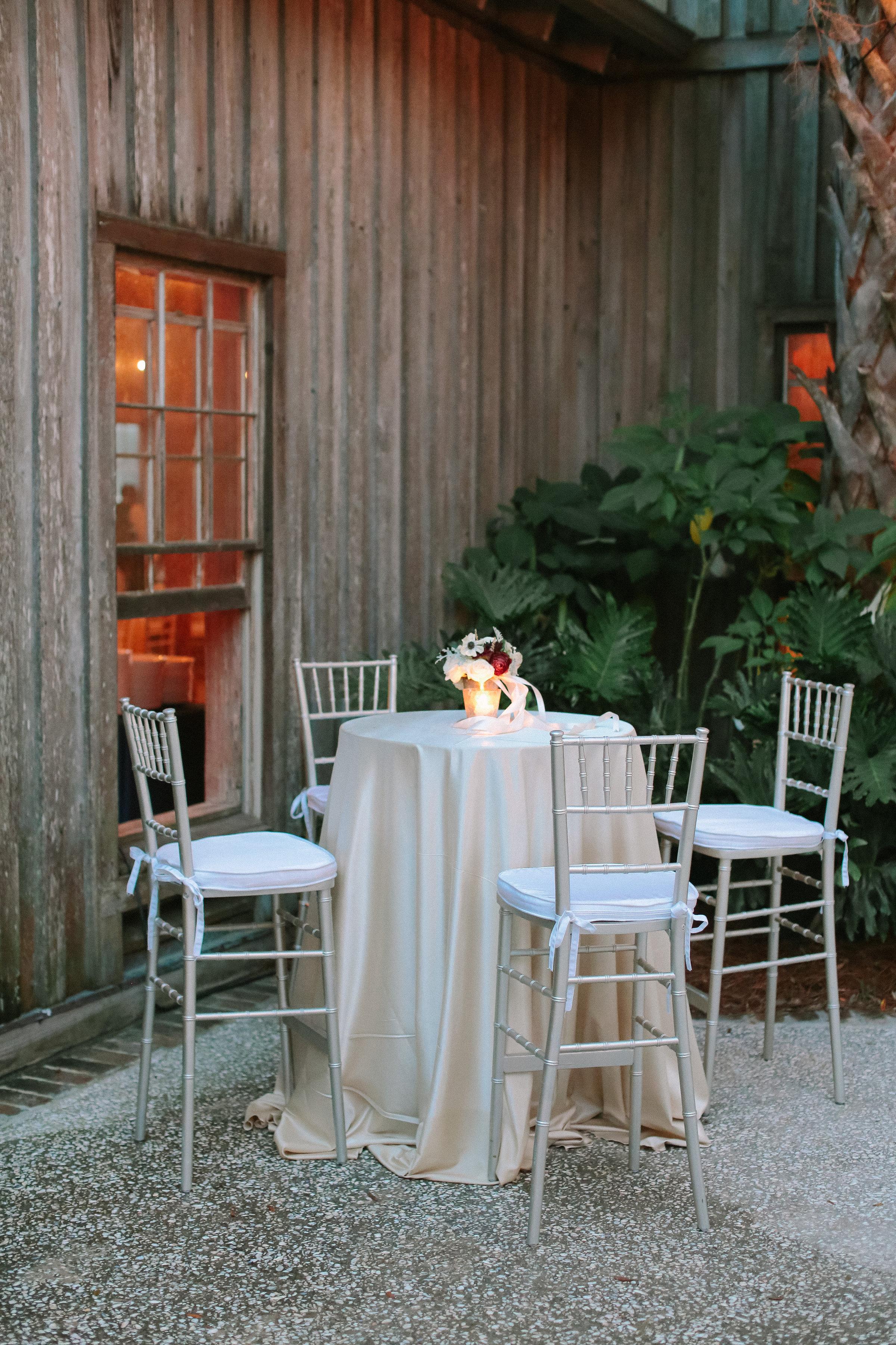 Cotton Dock wedding reception decor by Marianne Caldwell  //  A Lowcountry Wedding Magazine