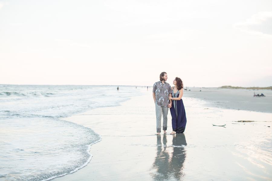 Charleston engagement photos on Sullivan's Island by Jessica Hunt Photography  //  A Lowcountry Wedding Magazine