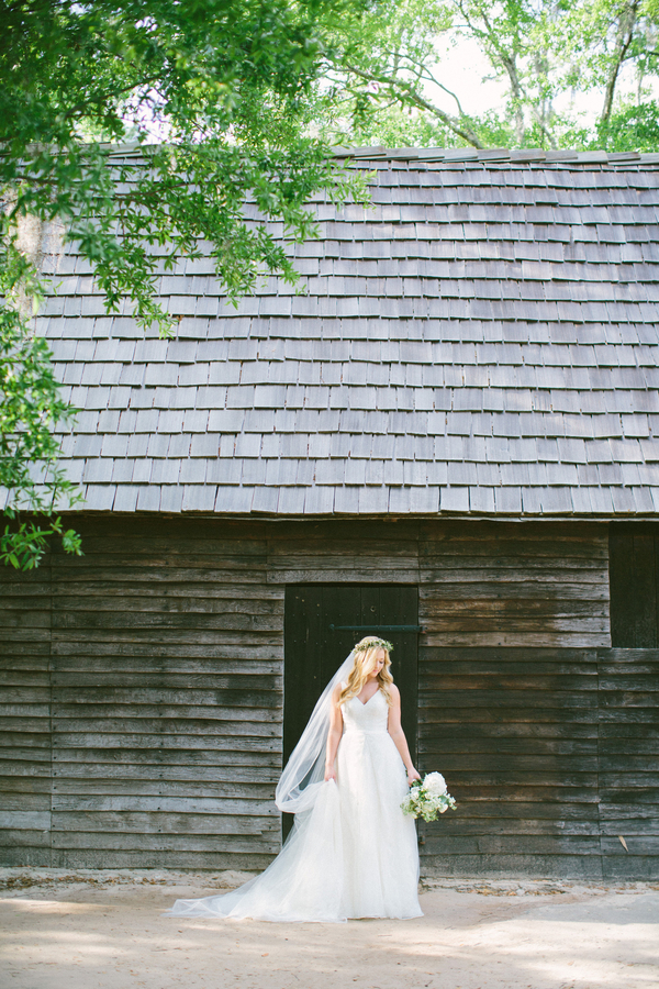 Bridal portraits at Charles Towne Landing  // Charleston wedding photography by Taylor Rae Photography  //  A Lowcountry Wedding Magazine