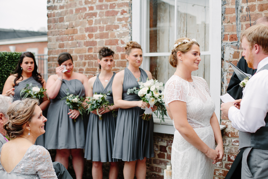 Rooftop wedding ceremony at Upstairs at Midtown by Riverland Studios  //  A Lowcountry Wedding Magazine