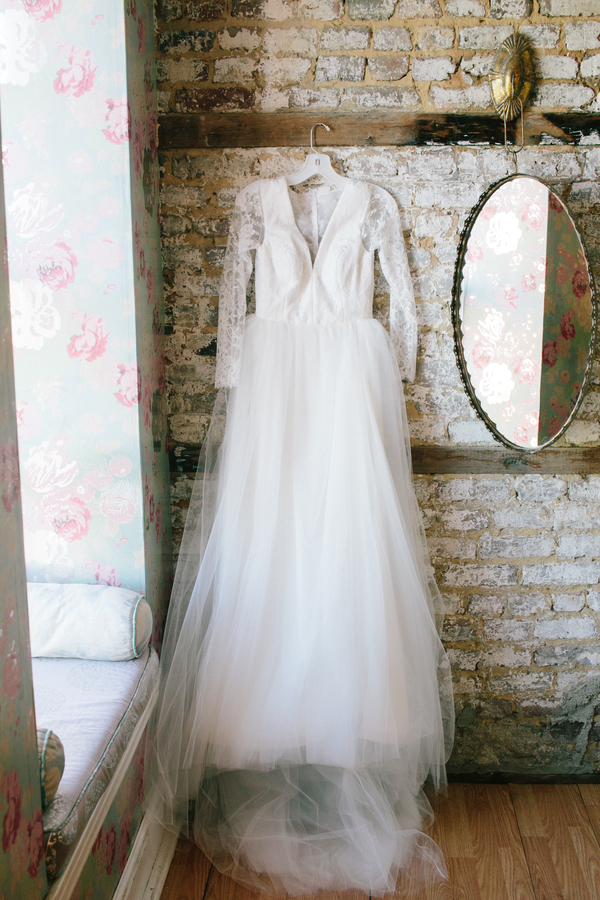 Charleston bride's long-sleeved Kate McDonald gown  //  A Lowcountry Wedding Magazine