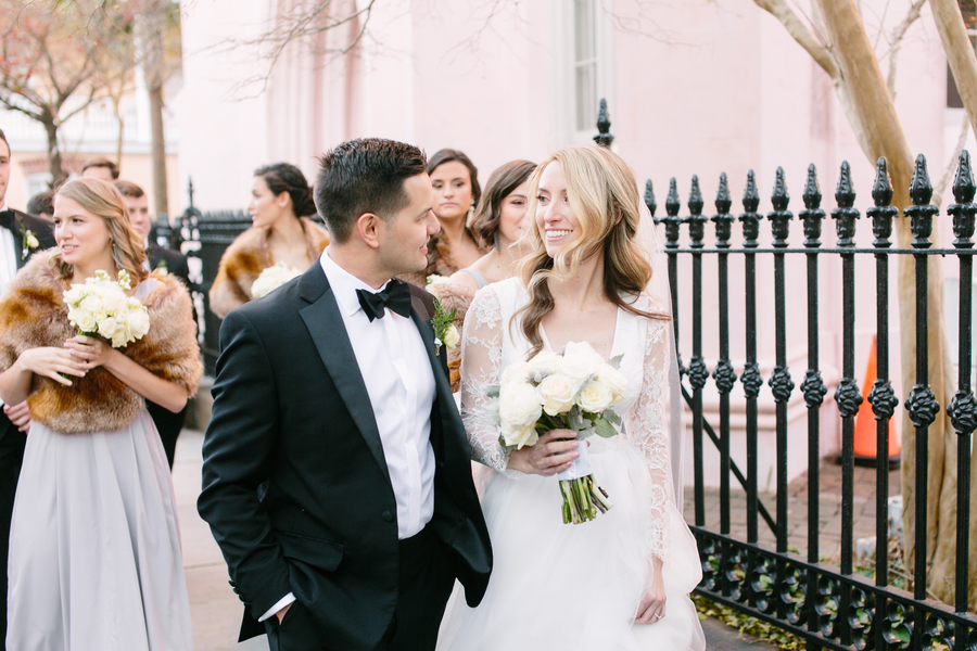 Winter wedding at The American Theater in Charleston, SC  //  A Lowcountry Wedding Magazine