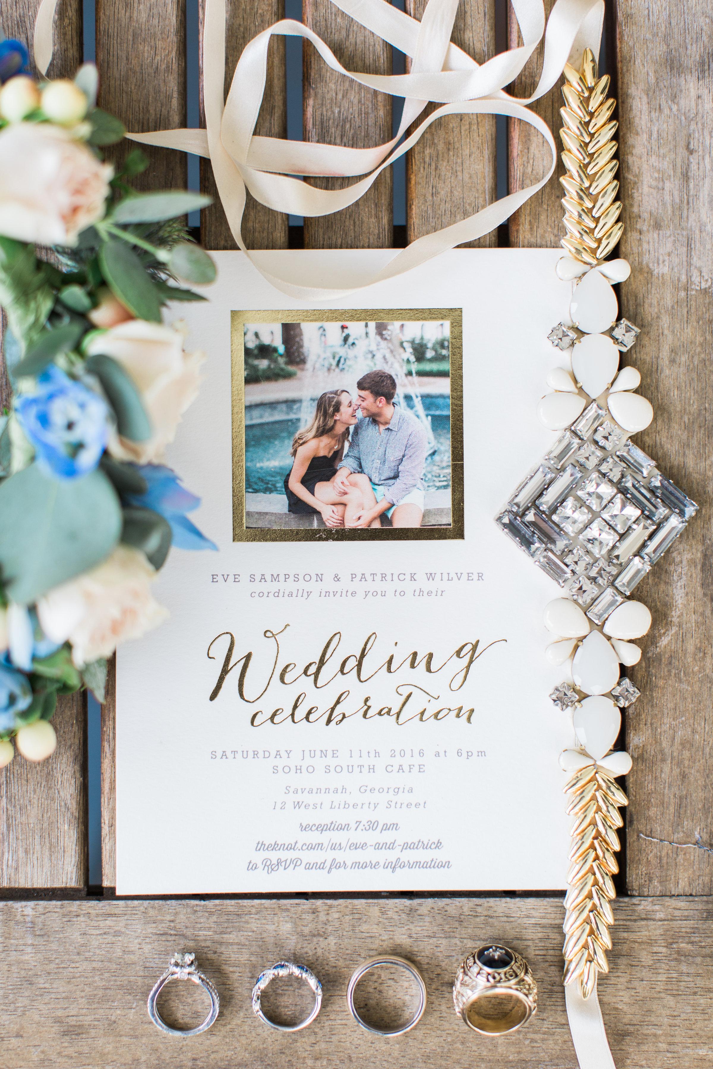 Savannah wedding invitations photographed by Apt B Photography  //  A Lowcountry Wedding Magazine