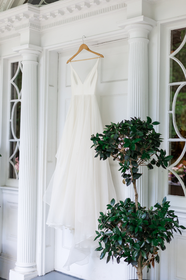 Charleston bride's Leanne Marshall gown at The Thomas Bennett House  //  Wedding photography by JoPhoto  //  A Lowcountry Wedding Magazine