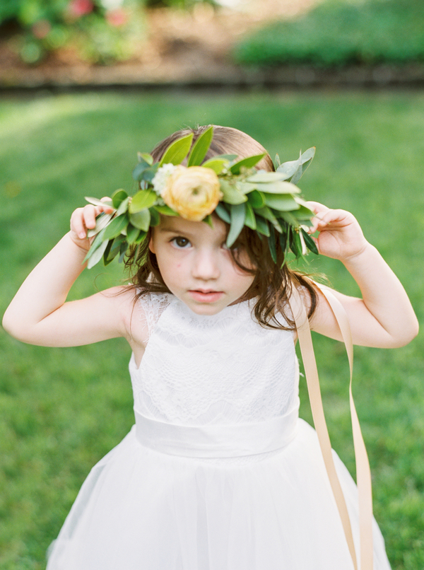 Flower girl at The Thomas Bennett House wedding  //  Wedding photography by JoPhoto  //  A Lowcountry Wedding Magazine