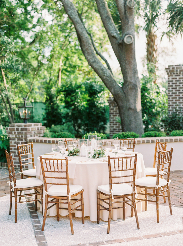 Outdoor wedding reception at The Thomas Bennett House  //  Planning & Design by The Petal Report