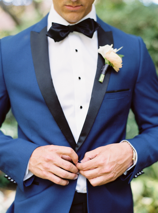 Navy tuxedo with black lapels for Charleston SC wedding  //  A Lowcountry Wedding Magazine