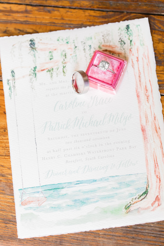 Beaufort SC wedding invitations by Empress Stationery  //  A Lowcountry Wedding Magazine