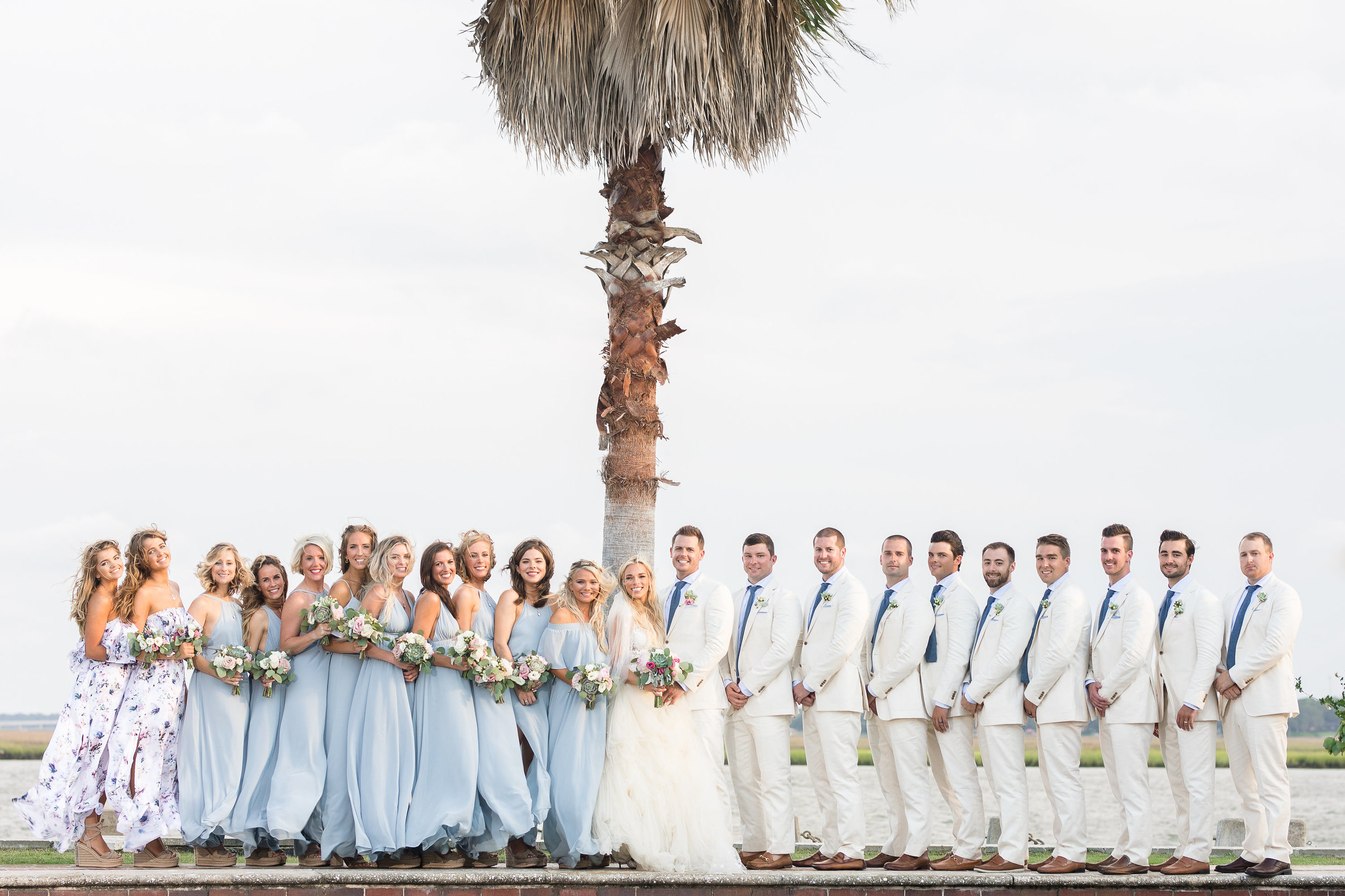 Bridal Party portraits at Beaufort SC wedding  //  Hilton Head photos by Garter + Whiskey