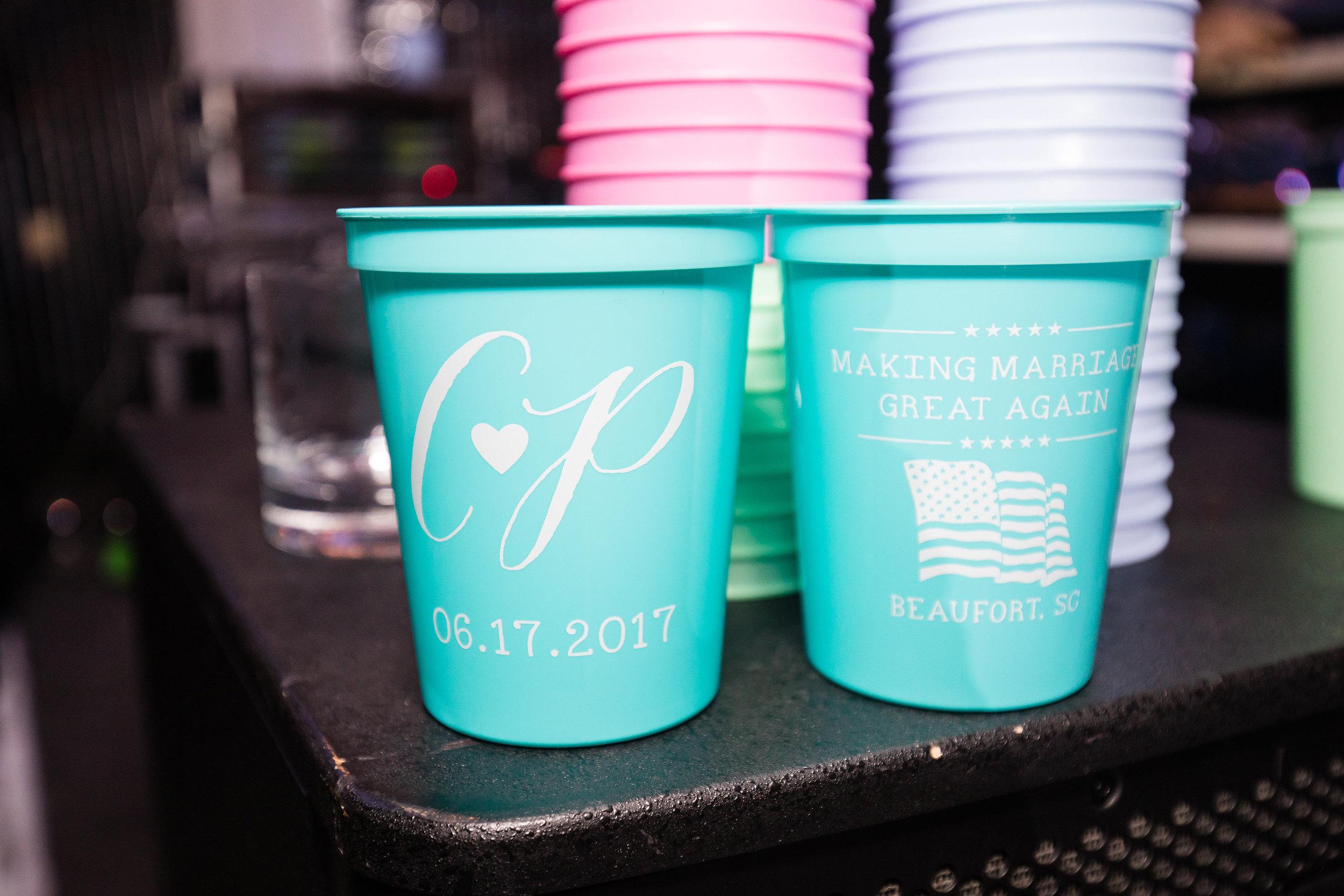 Custom Making Marriage Great Again wedding cups