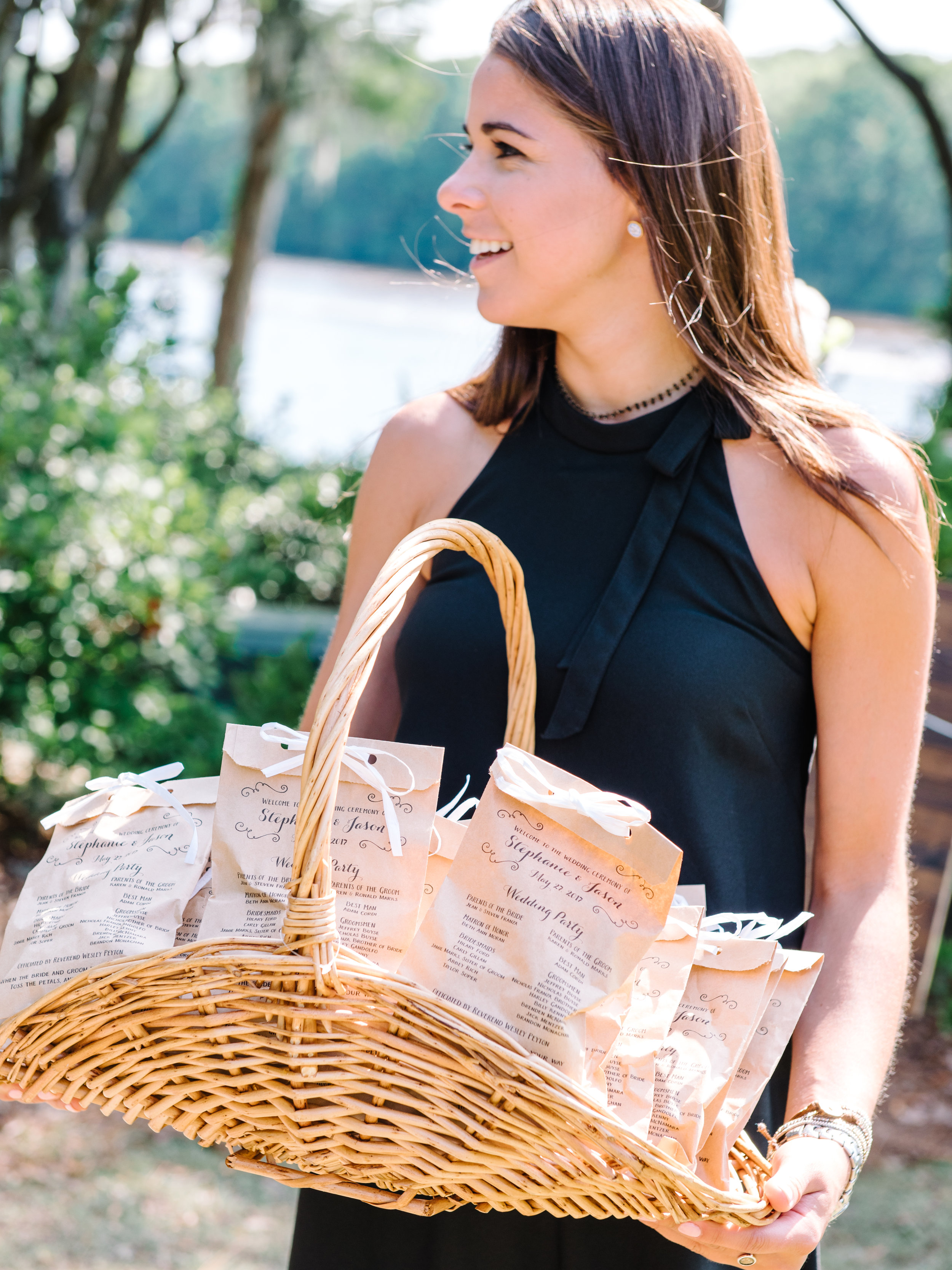 Wachesaw Plantation ceremony wedding programs  //  A Lowcountry Wedding Magazine