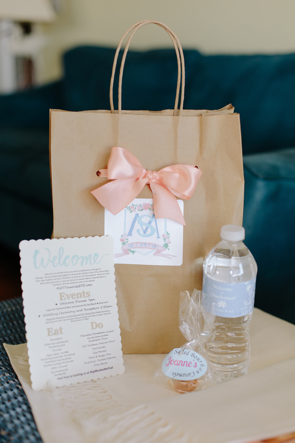 Charleston SC wedding welcome bags  //  Photography by Riverland STudios