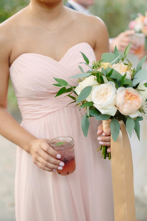 Peach Bridesmaids Dresses at Magnolia Plantation wedding