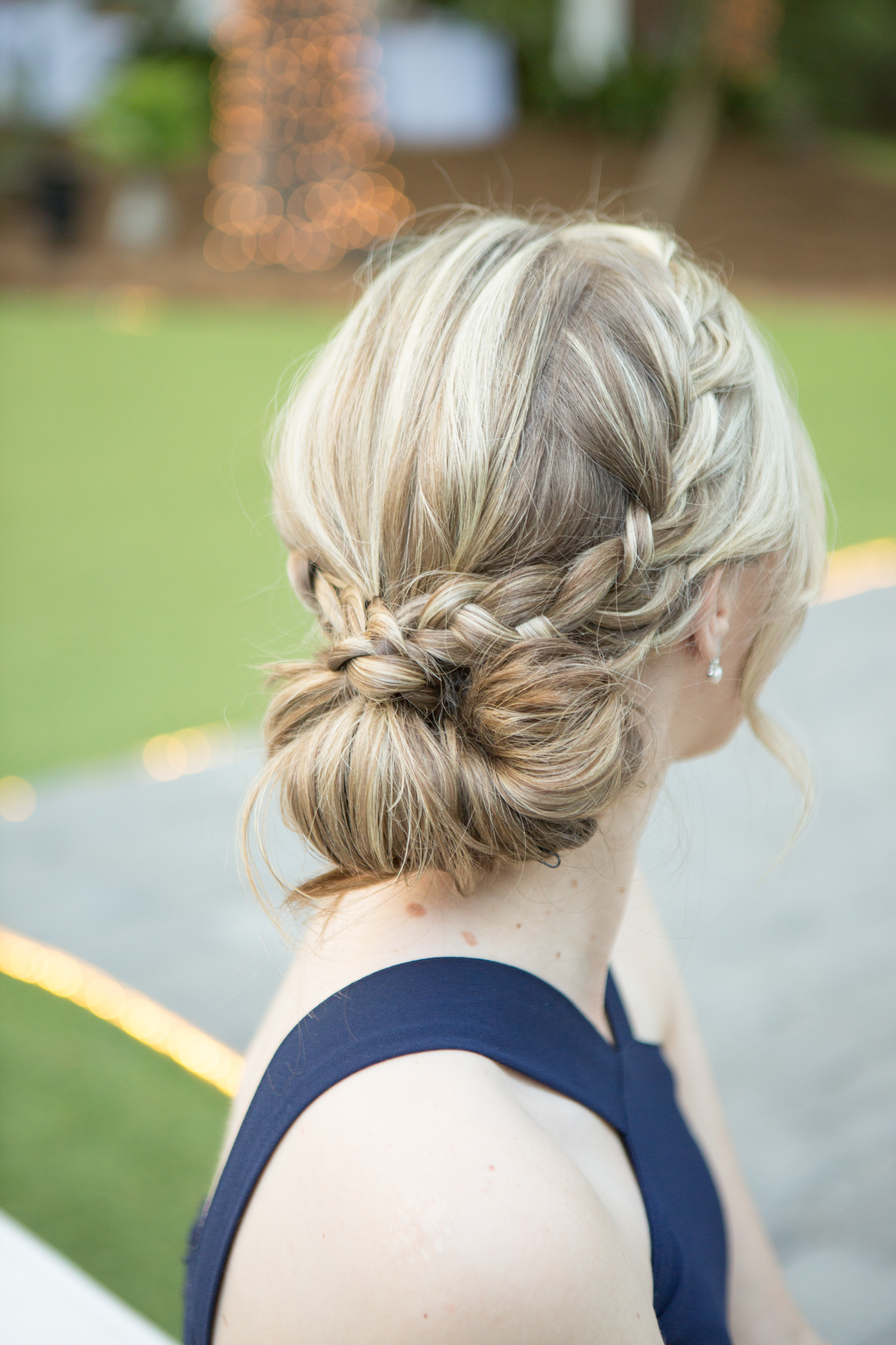 Braided up-do for wedding in Savannah GA by ROBS at Drayton Tower