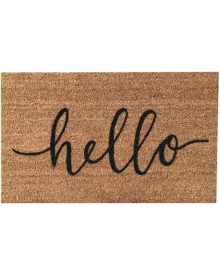 """Hand Painted """"Hello"""" Welcome Mat"""