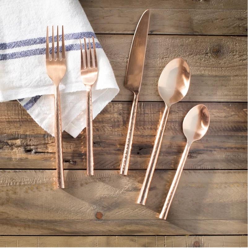 Copper Flatware Set