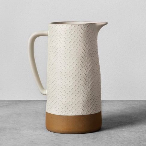 Textured Stoneware Pitcher - Cream - Hearth & Hand™ with Magnolia