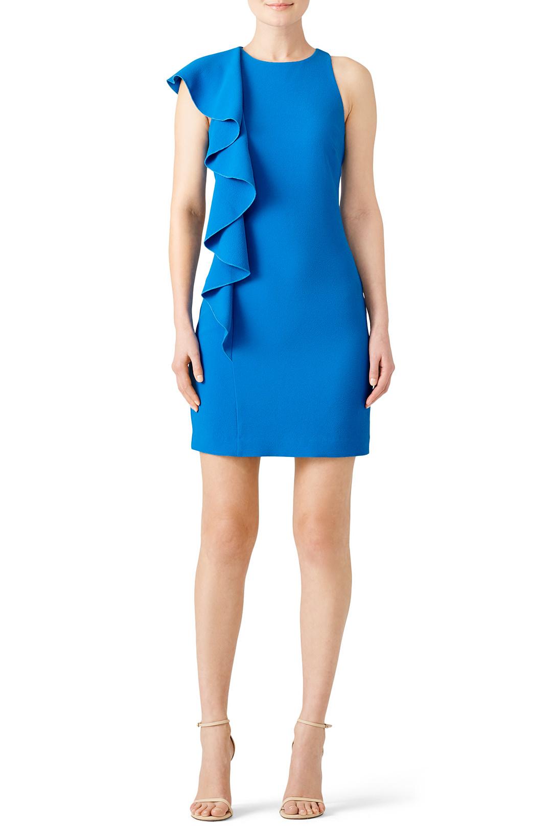 Trina Turk Blue Crescent Dress