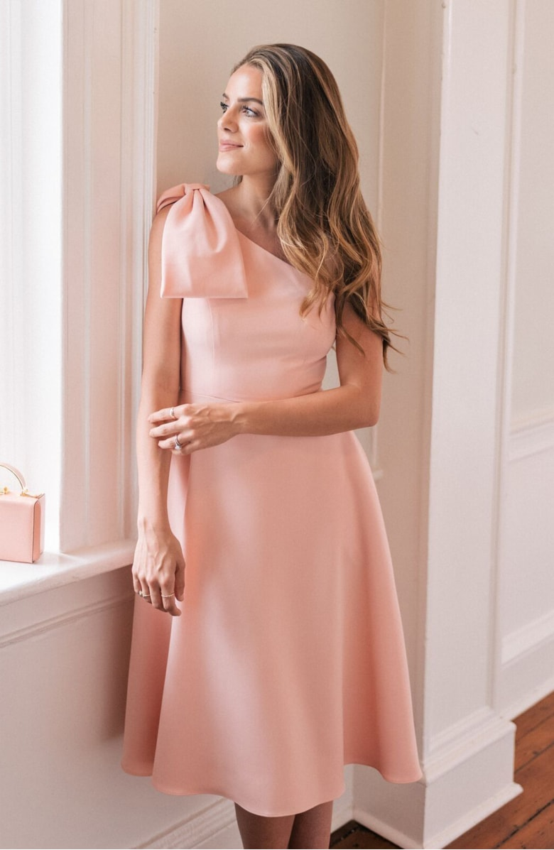 Yvonne Dream Crepe One-Shoulder Dress