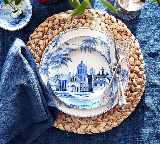 WATER HYACINTH ROUND PLACEMAT - $56.00