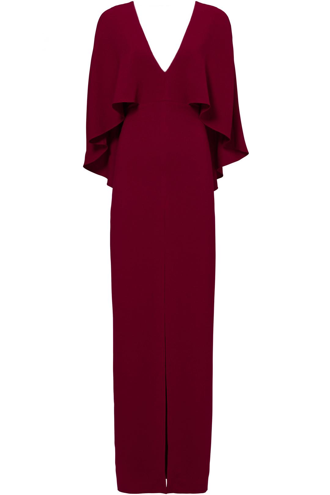 halston heritage dahlia cape gown - $70.00-$80.00
