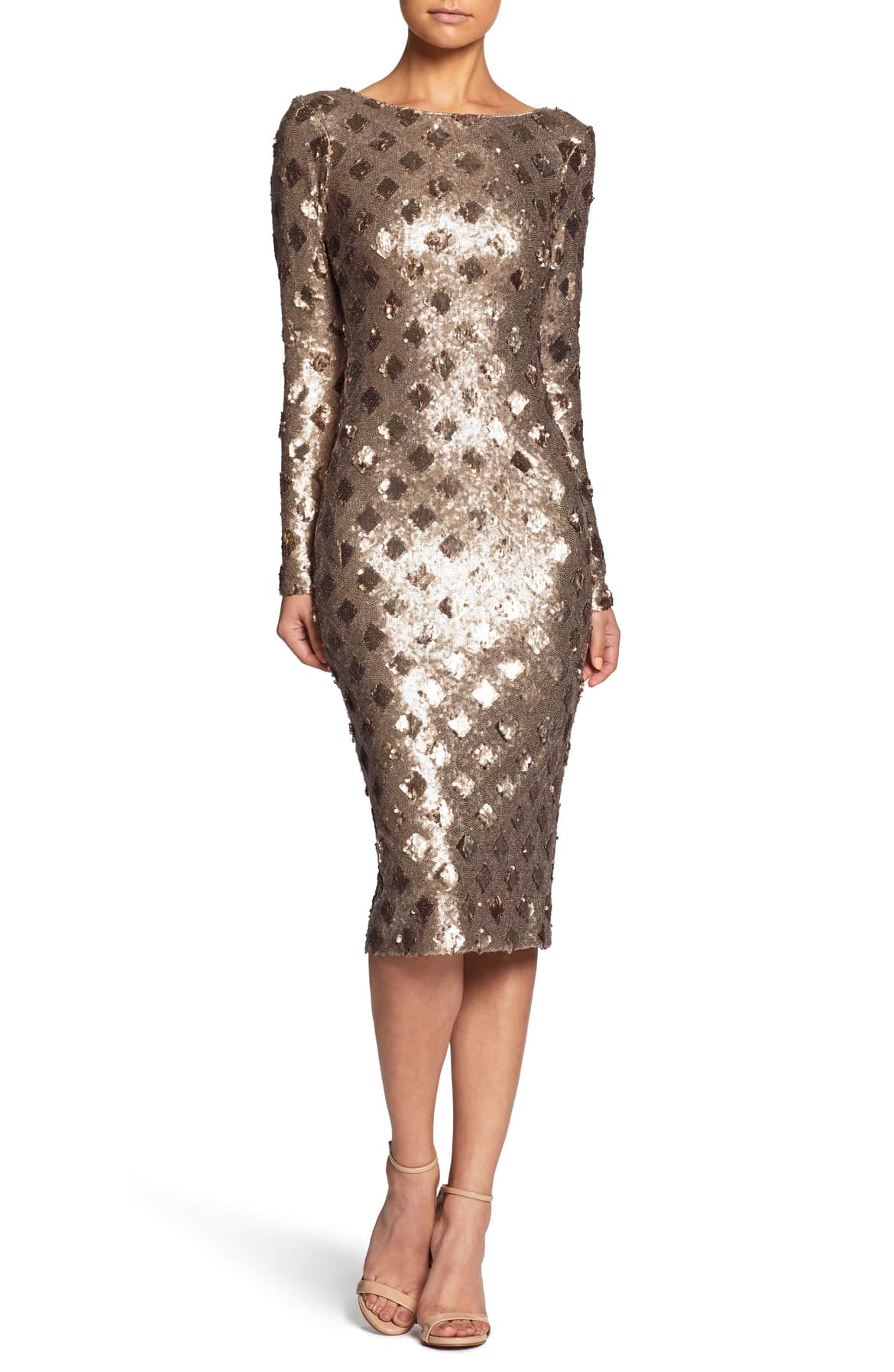 Dress The Population Emery Sequin Sheath Dress - $253.00