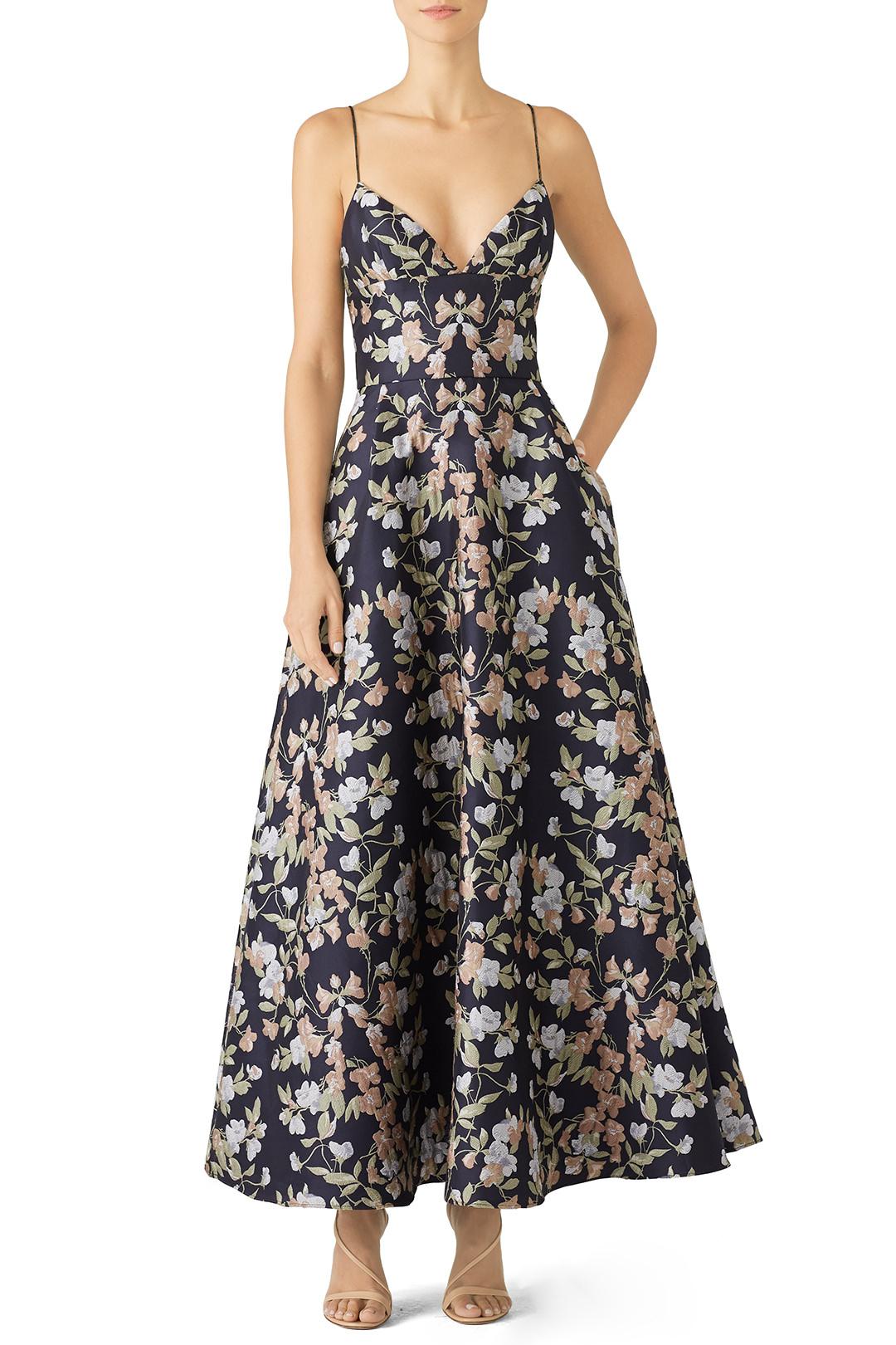 Monique Lhuillier Garden Jacquard Gown - $!05.00-$115.00