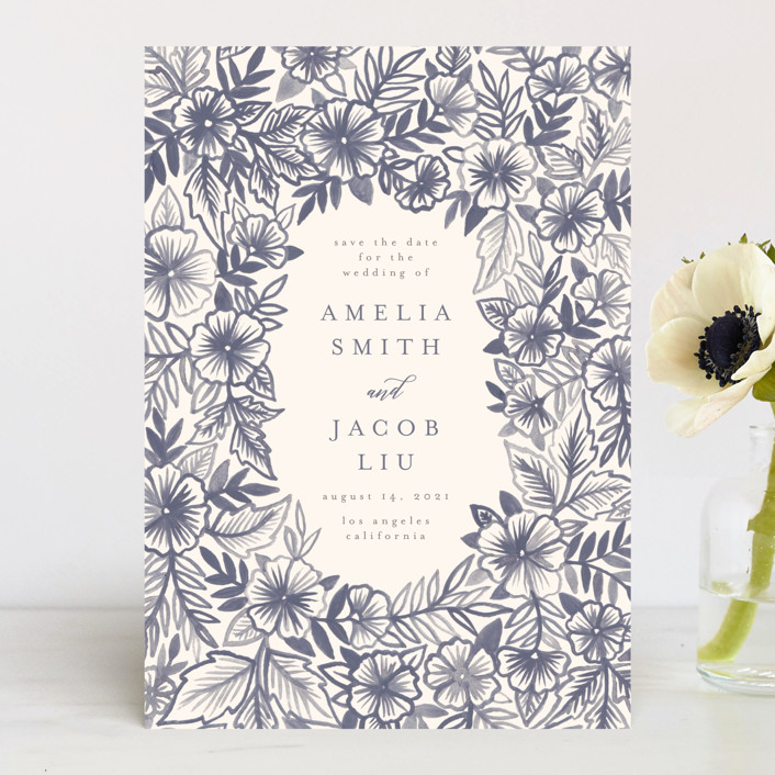 WATERCOLOR FLORAL FRAME SAVE THE DATE