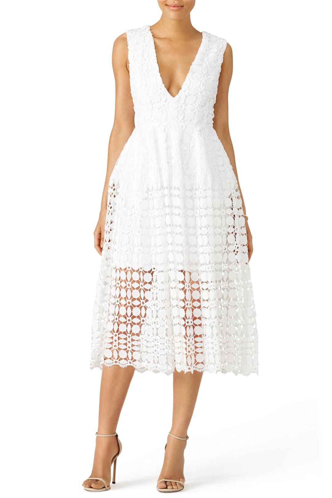 Nicholas Tiered Lace Dress