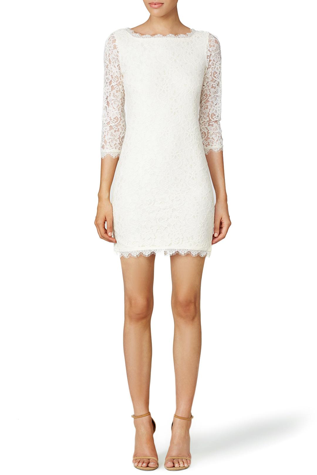 Diane Von Furstenburg Ivory Zarita Dress