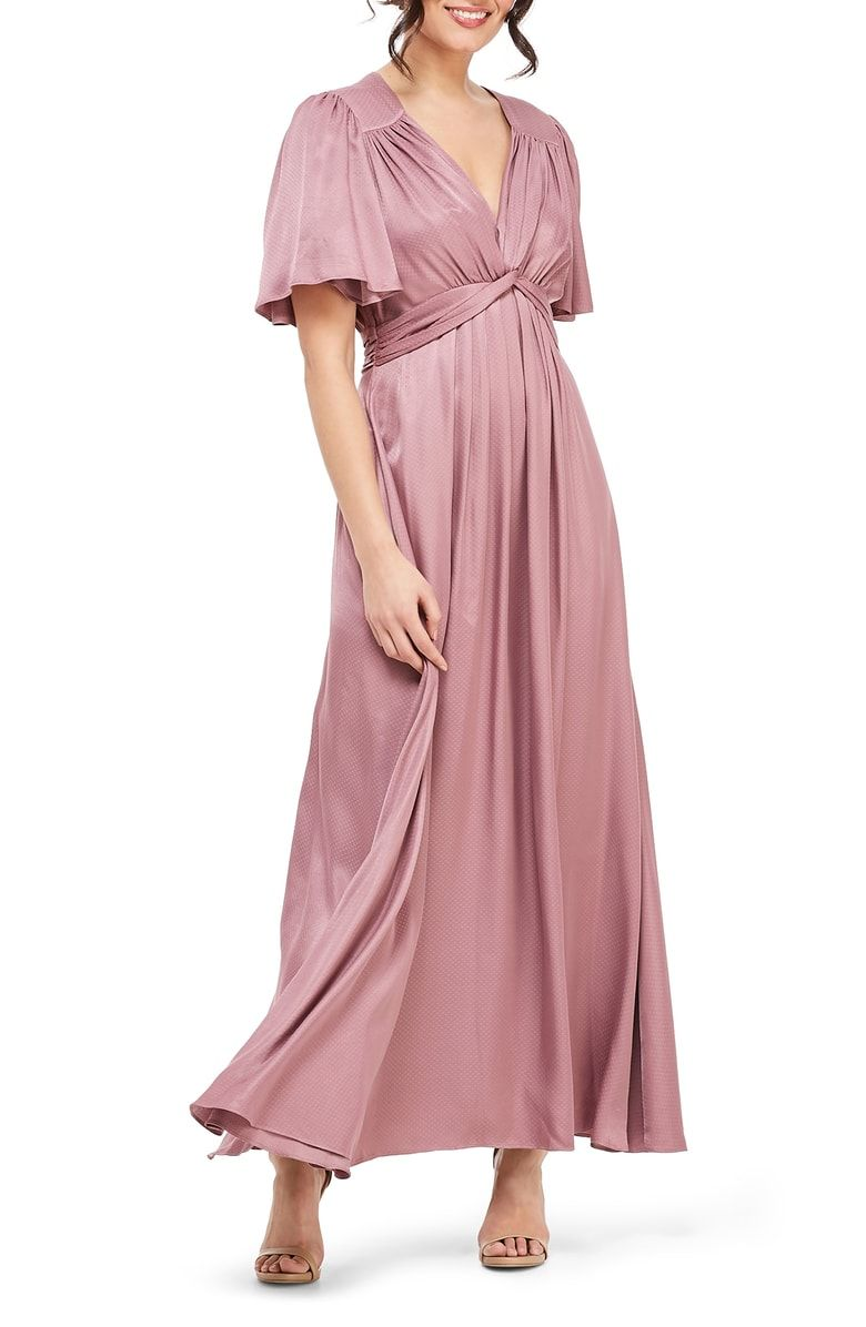 Genevieve Empire Waist Pleated Maxi Dress