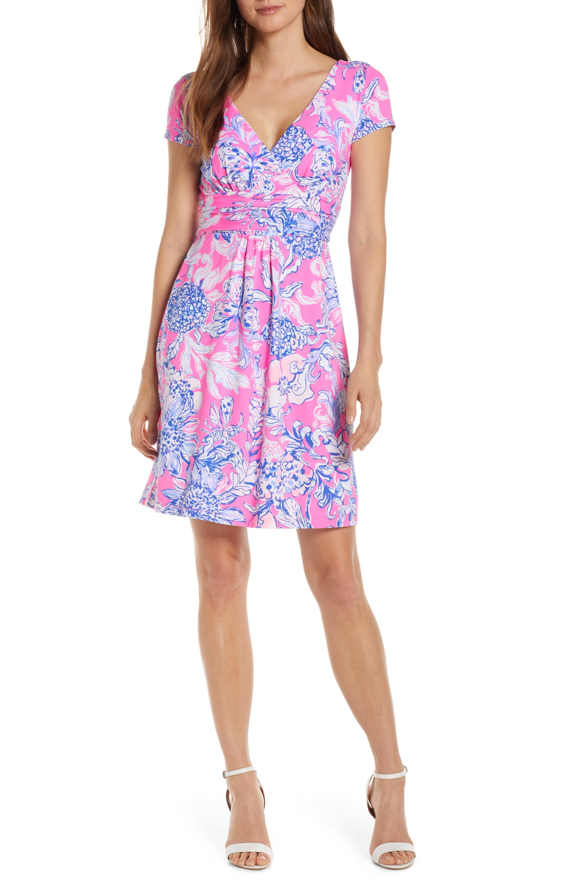 Lilly Pulizter® Winslow Print Surplice Dress