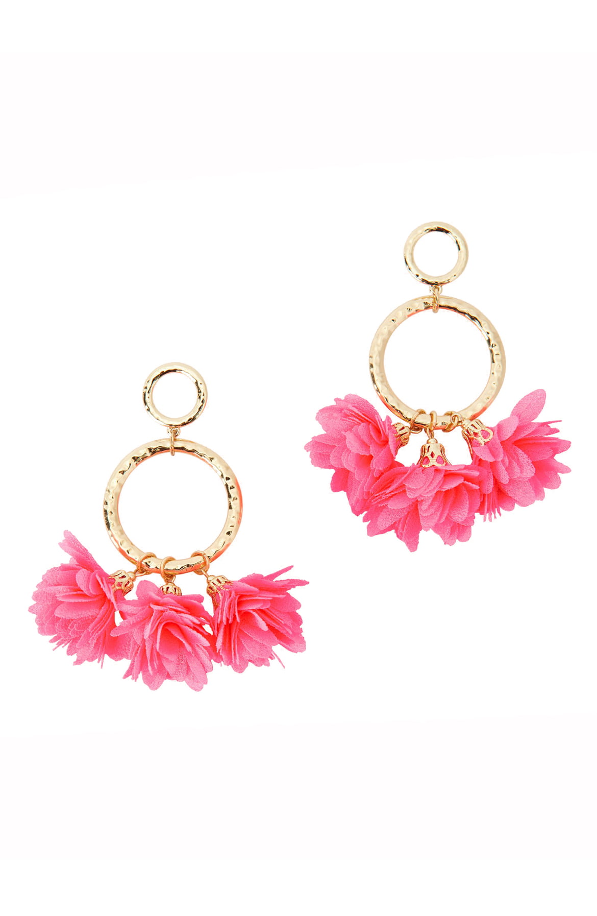 Cascading Petals Hoop Earrings PINK TROPICS