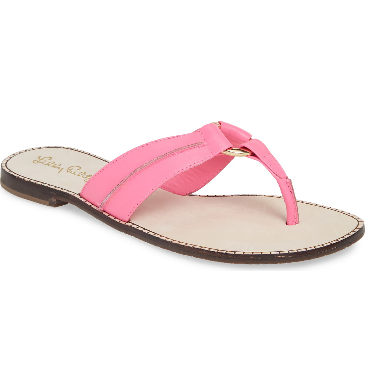 McKim Metallic Flip Flop, PINK TROPICS LEATHER