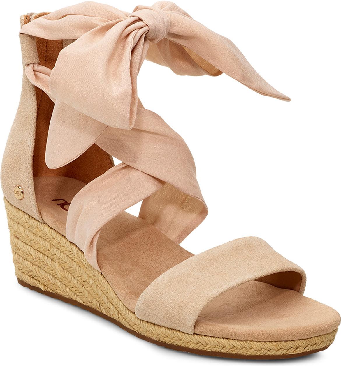 Trina Ankle Tie Wedge Sandal