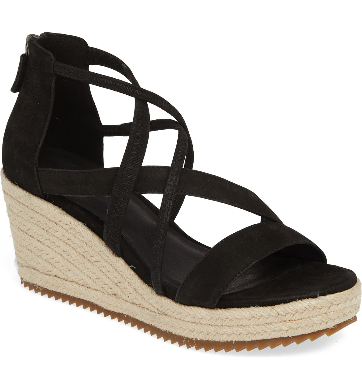 Wanda Cross Strap Wedge Sandal