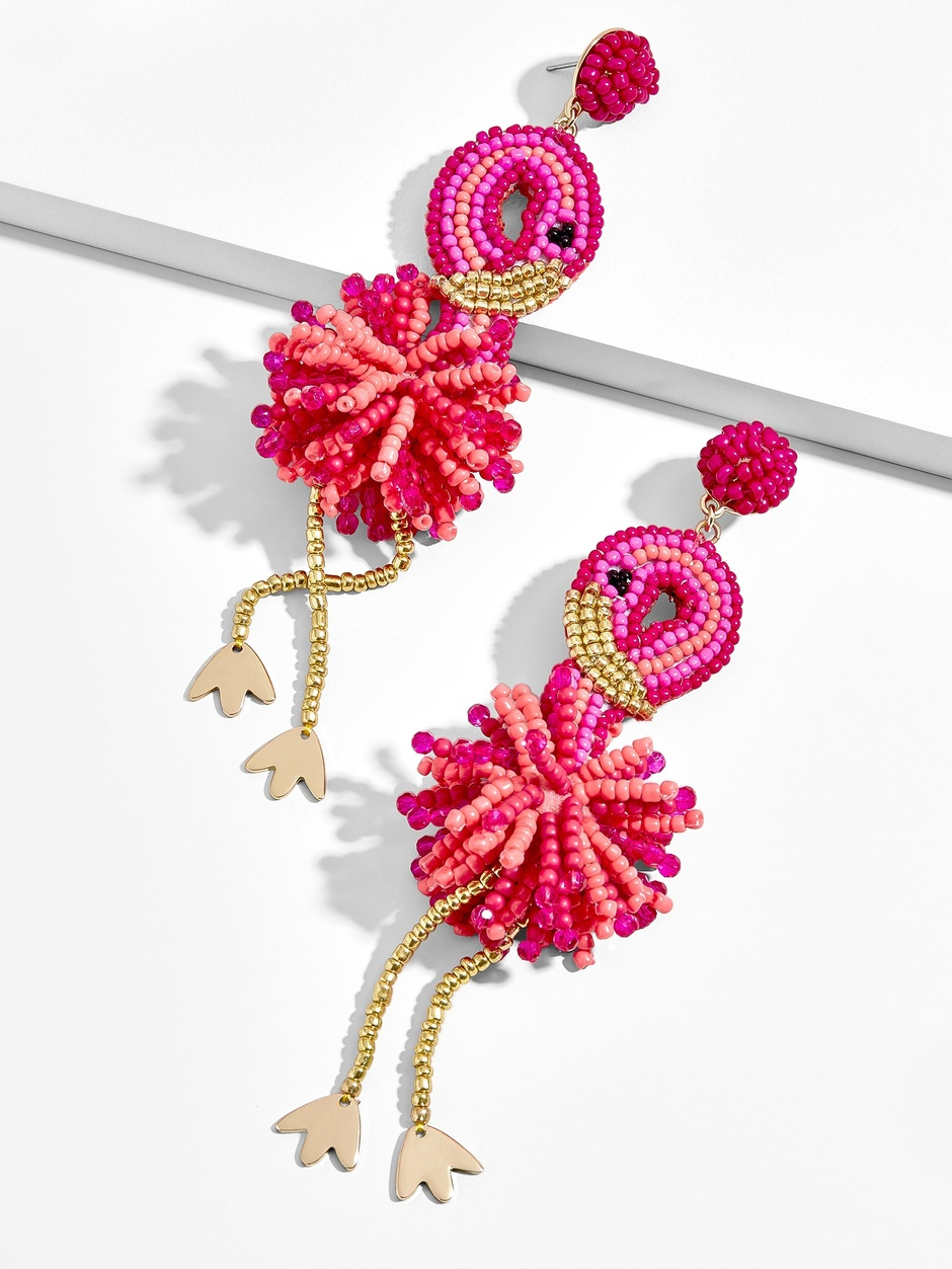 FANTASIA DROP FLAMINGO EARRINGS