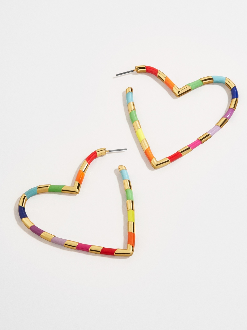 ANNAELLE HEART HOOP EARRINGS