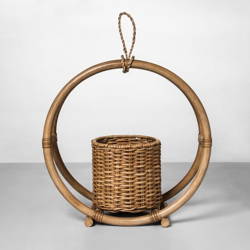 Rattan Round Hanging Planter Natural - Opalhouse™