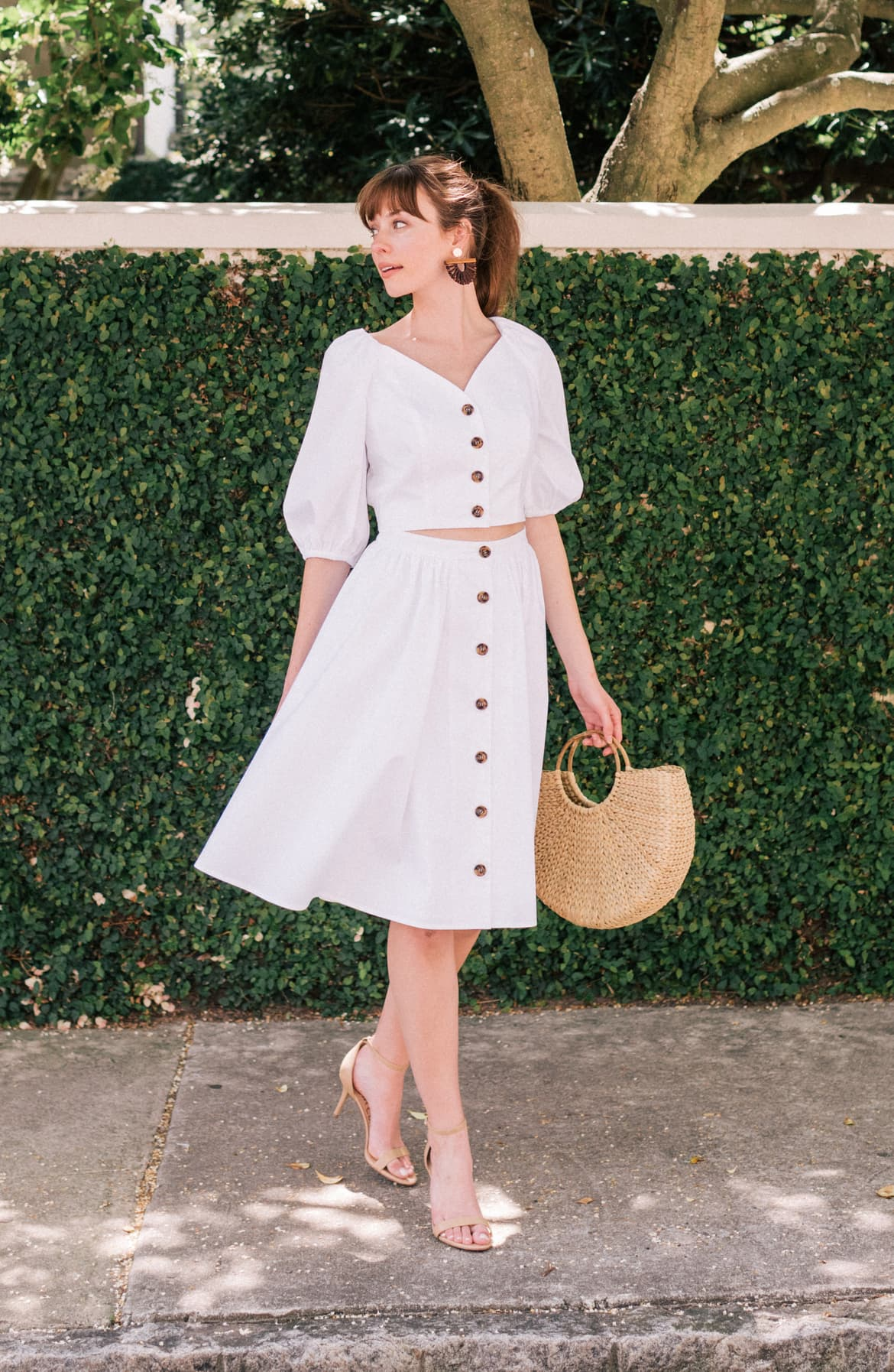 India Button-Up Two-Piece Dress