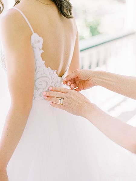 Hayley Paige gown at Beaufort Inn wedding by Tara Libby Photography