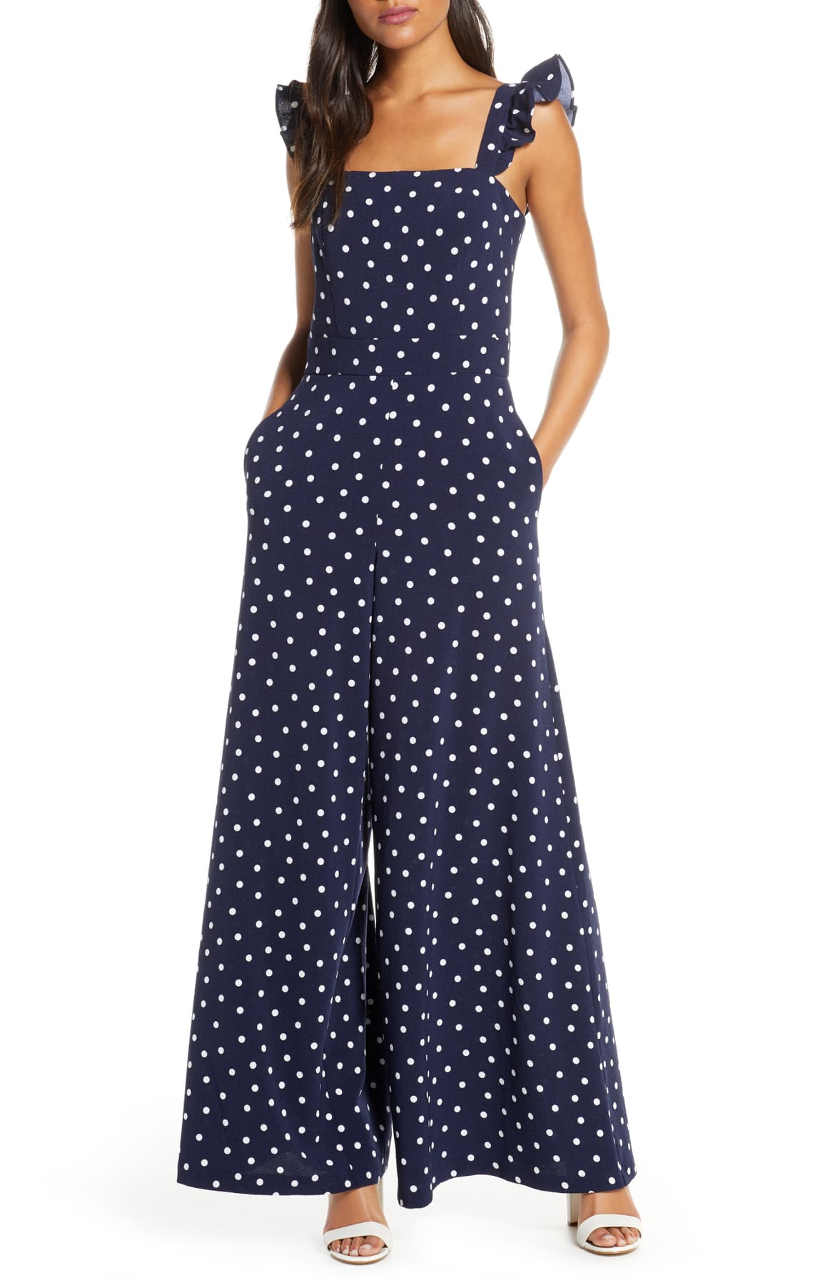 Eliza J Dot Wide Leg Jumpsuit