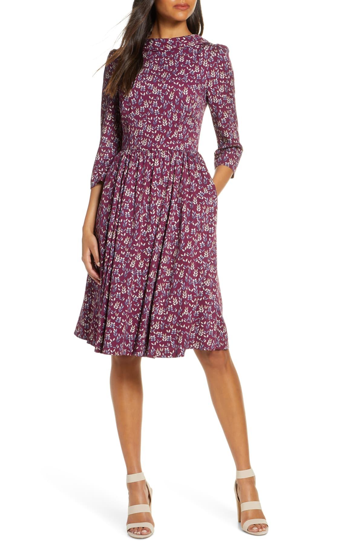 Beth V-Back Dress