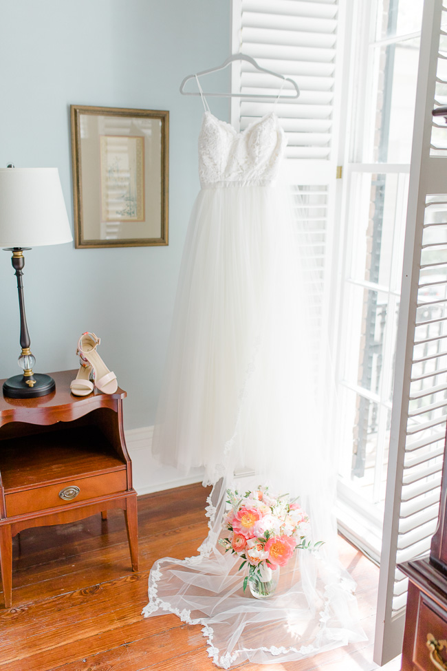 BHLDN dress at Savannah wedding