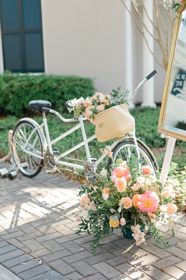 Pink peony details for Savannah Yacht Club Wedding